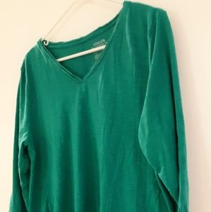 """Chico's """"the ultimate tee"""" emerald green heather"""